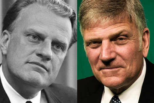 Photo of Billy Graham and Franklin Graham